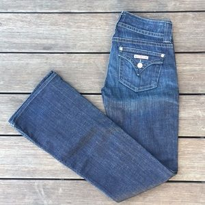 Hudson, mid rise Flare Jeans